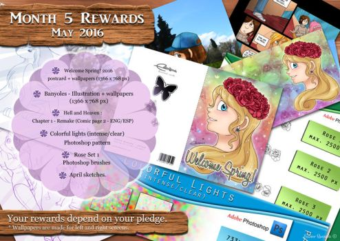 Patreon's Rewards for May - 2016 by Raygirl13