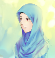 hijab potrait by Cerulean-Canvas