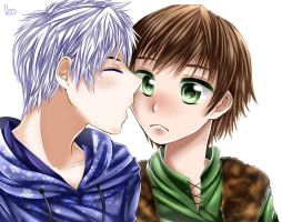 Jack x Hiccup by ivoryneva