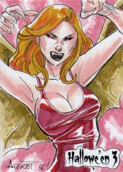 Hallowe'en 3 Sketch Card - Alfret Le 1 by Pernastudios