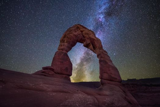 Delicate Arch illuminated, Arches National Park by alierturk