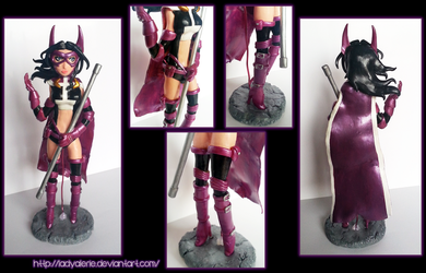 Huntress clay sculpture by LadyAlerie