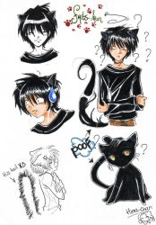 if my cat was an anime char by Himarou-chan