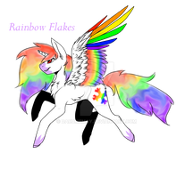 Rainbow Flakes new style by Darumemay