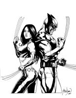 Wolverine and X-23 'Back to Back' by John-Stinsman