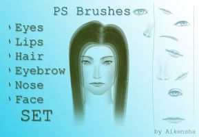 Set for human face- Brushes by Aikensha