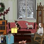 Puppies and Christmas by AelinNamarie