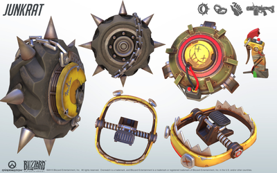 Junkrat - Overwatch - Close look at model by PlanK-69