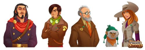 Puzzle Chasers Main Characters by MPdigitalART
