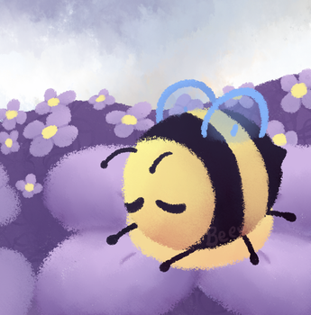 Sleepy Bee by 123abcdrawwithme