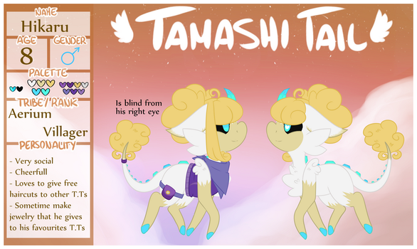 Tamashi Tails MYO Ref - Hikaru by moonpaw-of-Shadclan