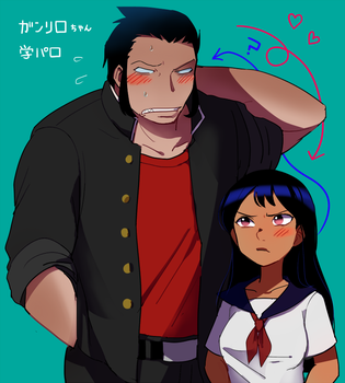 school life of gantu(personification) and lilo. by y-yuki