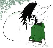 Sleepy Ulquiorra w Dango~ by VanillaGhosts