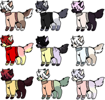 sweater pup batch OPEN by egg-nogs