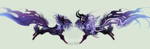 [AUCTION] Dragonkit - Dullahan [OVER] by sordid-dessert