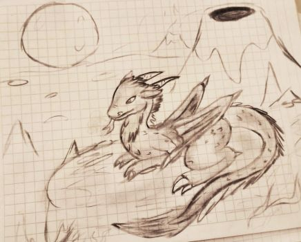 Dragon de carboncillo (charcoal) by GluryTheUnown