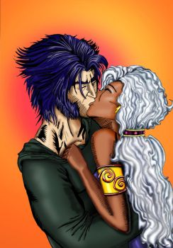 Wolverine and Storm by MaestroDinDon
