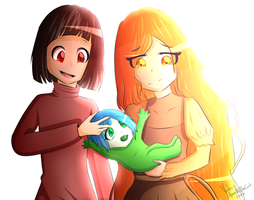 Family...(Glitchtale) - Collab with AurelieTheCat by Yuki-Plume