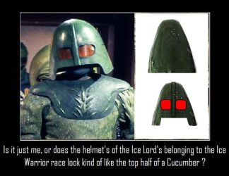 Doctor Who - Ice Lord Cucumber Helmets by DoctorWhoOne