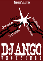 Django Unchained minimalistic poster by The-fishy-one