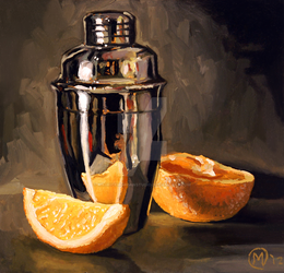 Orange and Martini by mauricemorganstudio