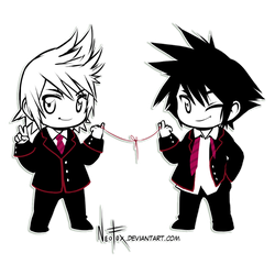 Chibi Ven and Van by neofox