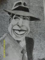 Carlos Gardel cartoon by Ezequielmercado