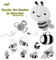 Bumble Bee Brushes by fartoolate