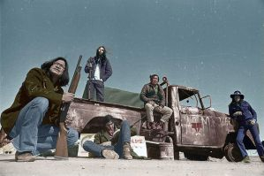 Second Wounded Knee - 1973 - Colorized by OldHank