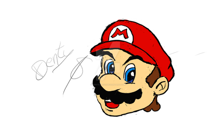 First Mario on a graphics tablet... by Dentelle127