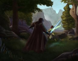 SWtoR - Commission - In the Fields of Tython by JoJollyArt