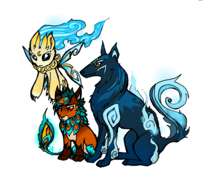 THREE LITTLE MONSTERS by stxe-girlanimated