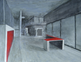 Interior with Red by julejeurissen