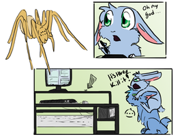 Giant spiders by AnimeVSReality