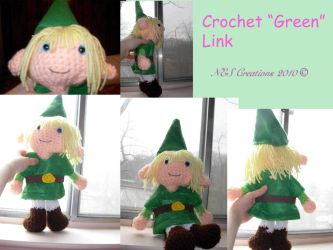 Crochet 'Green' Link by Zero23