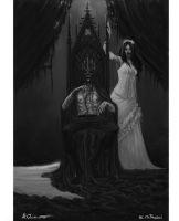 Black King and White Queen by Liarath