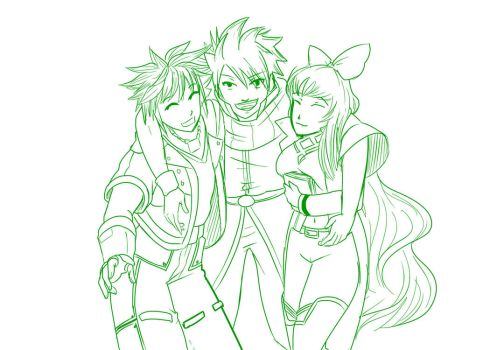 2 Natsu makes friends with Sora and Blake by mattwilson83