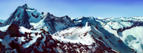 Snow mountains study by snowsoulls