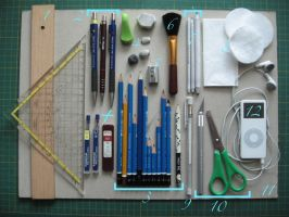 drawing materials by OliviasArtwork