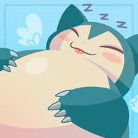Snorlax Icon by Wicklesmack