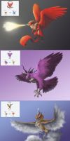 Pokemon Fusions: Kanto Legendary Birds