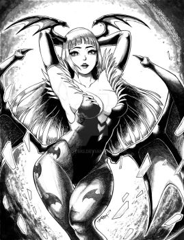 Morrigan Aensland (Scanned Ver) by tarotski