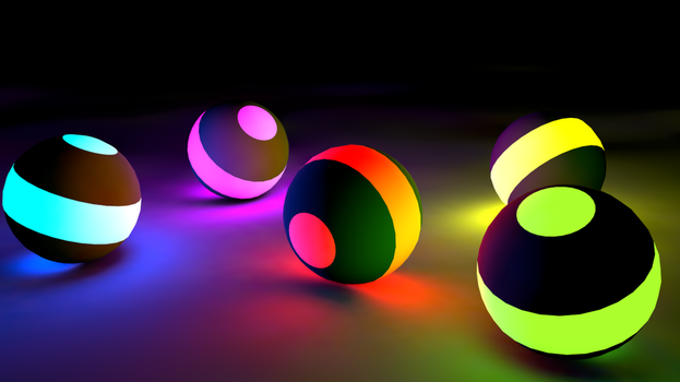 glowing balls by ilareen