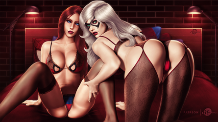 Mary Jane x Black Cat - Lingerie Version HQ by martaino