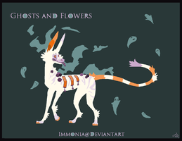 Holiday Zippurrcat: Ghosts and Flowers [CLOSED] by Immonia