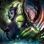 Maleficent of Sleeping Beauty by emilynguyenart
