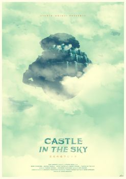 Spirit of Strength - Castle in the Sky Poster by edwardjmoran