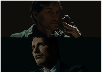 Will and Hannibal WIP by Shazifire