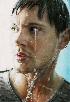 Jensen Ackles (drawing) by Quelchii