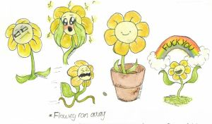 Bunch of Floweys by MushroomMoon